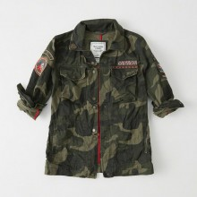 PATCH TWILL SHIRT JACKET
